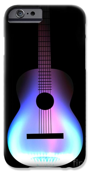 Blues Guitar on Fire iPhone Case by Andy Smy