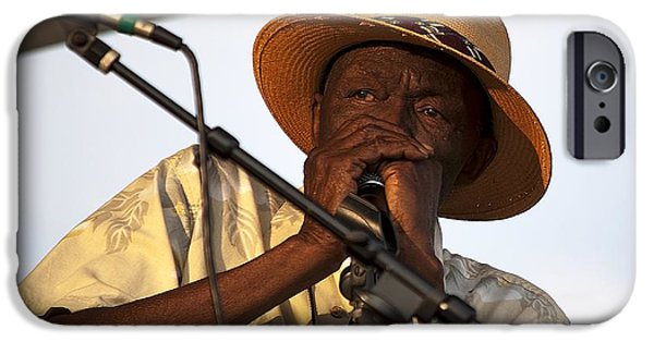 Legendary Music Singers iPhone Cases - Bluesman2 iPhone Case by Kenneth Albin