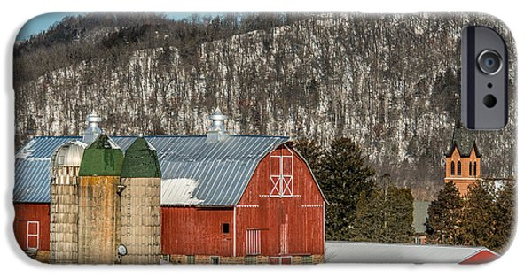 Old Barn Poster Photographs iPhone Cases - Bluff Country Barn iPhone Case by Paul Freidlund