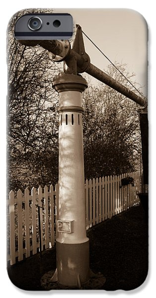 Swindon iPhone Cases - Blunsdon station at Swindon and Cricklade railway iPhone Case by Steven Sexton