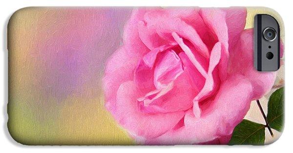 Floral Digital Art Digital Art iPhone Cases - Blush iPhone Case by Darren Fisher