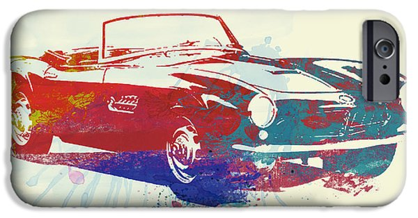 Old Car iPhone Cases - Bmw 507 iPhone Case by Naxart Studio
