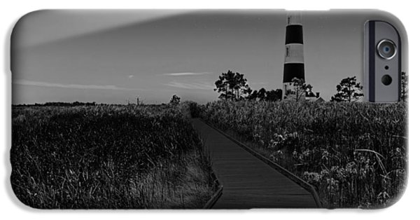 Monotone iPhone Cases - Bodie Island Lighthouse iPhone Case by Brian Wallace