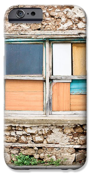 Haunted House iPhone Cases - Boarded up window iPhone Case by Tom Gowanlock