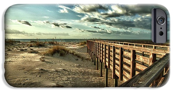 Micdesigns iPhone Cases - Boardwalk on the Beach iPhone Case by Michael Thomas
