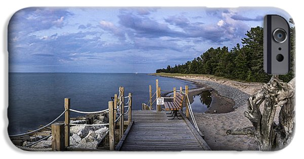Beach Landscape iPhone Cases - Boardwalk to beach iPhone Case by Lisa Saffell