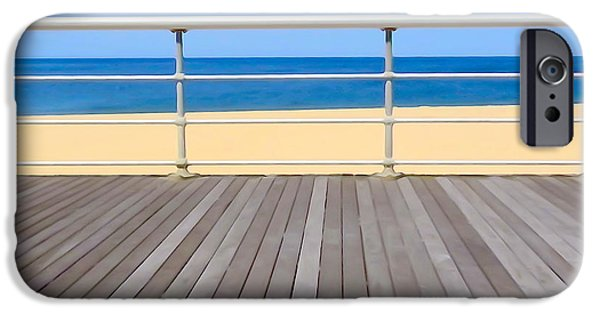 Board iPhone Cases - Boardwalk View iPhone Case by Ed Weidman