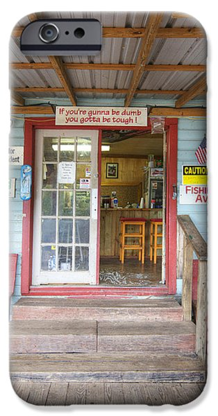 Caddo Lake iPhone Cases - Boat and Bait Shop at Caddo Lake 1 iPhone Case by Rob Greebon