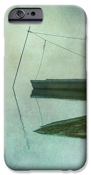 Boat and Dock Taunton River No. 2 iPhone Case by Dave Gordon