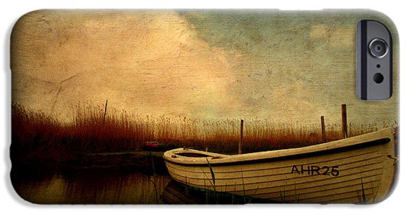 Meadow Photographs iPhone Cases - Boat iPhone Case by Heike Hultsch