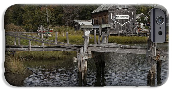 Marine iPhone Cases - Boat House iPhone Case by Timothy Johnson