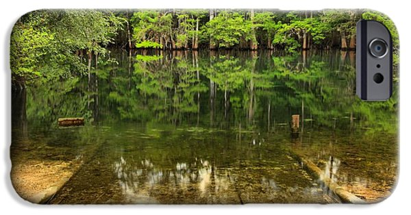 Manatee iPhone Cases - Boat Launch At Manatee Springs iPhone Case by Adam Jewell