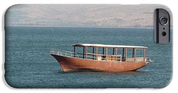Miracle iPhone Cases - Boat on Sea of Galilee iPhone Case by Brian Tada