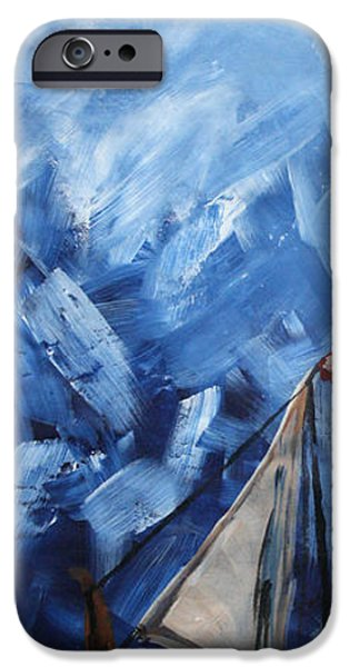 Abstract Seascape iPhone Cases - Boat iPhone Case by Vignesh Kumar