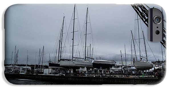 Boat iPhone Cases - Boat Yard iPhone Case by Martin Wall