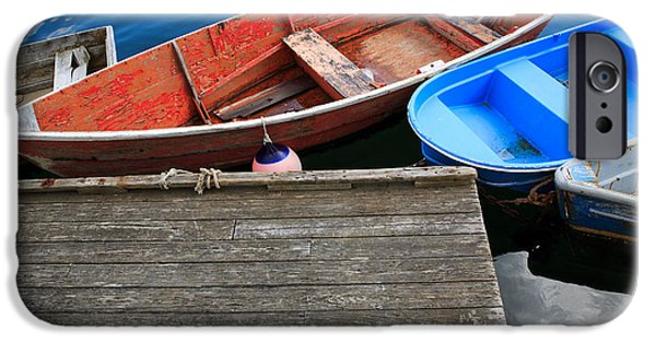 Chatham iPhone Cases - Boats 1 iPhone Case by Emmanuel Panagiotakis