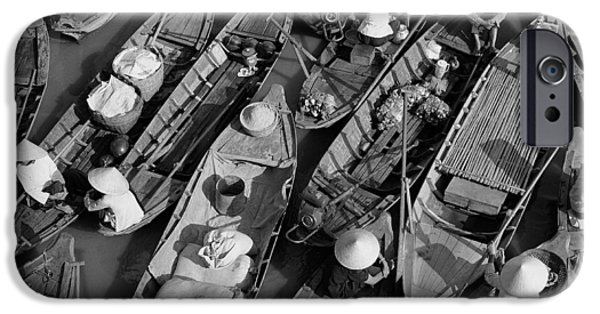 Canoe iPhone Cases - Boats, Hoi An, Vietnam iPhone Case by Huy Lam