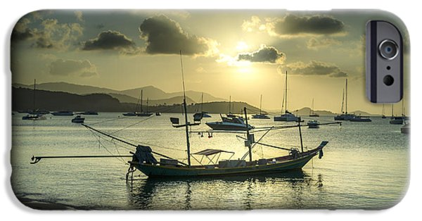 Michelle iPhone Cases - Boats In The Bay iPhone Case by Michelle Meenawong
