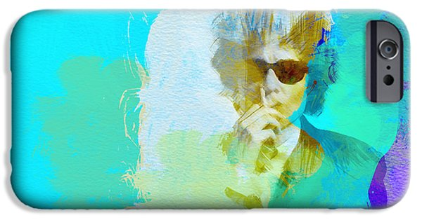 Band Paintings iPhone Cases - Bob Dylan iPhone Case by Naxart Studio