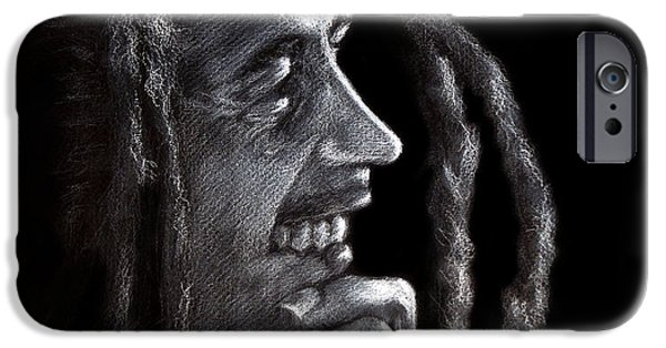 Reggae iPhone Cases - Bob Marley  iPhone Case by Fithi Abraham
