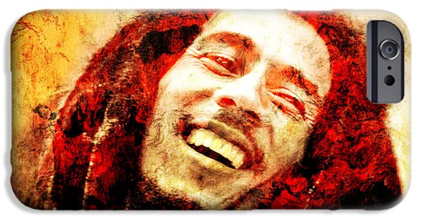 Paiting iPhone Cases - Bob Marley iPhone Case by Jose Espinoza