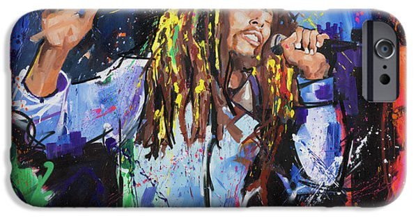 Abstract Expression iPhone Cases - Bob Marley iPhone Case by Richard Day
