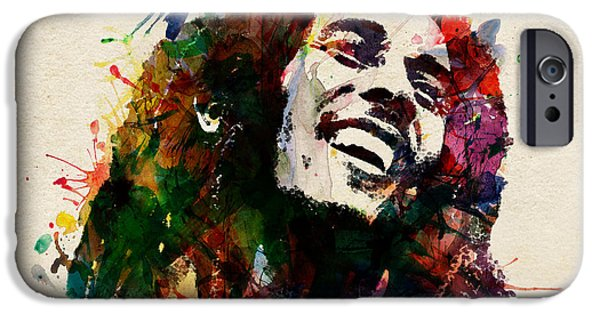 Reggae iPhone Cases - Bob Marley The King of Reggae iPhone Case by Marian Voicu