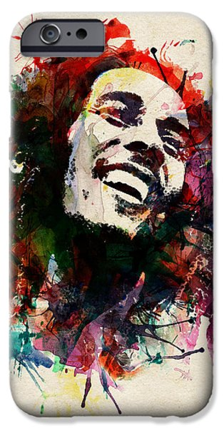 Marian iPhone Cases - Bob Marley The King of Reggae iPhone Case by Marian Voicu