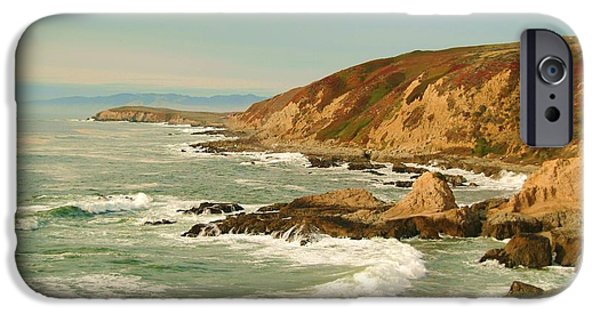California Beach iPhone Cases - Bodega Bay coastline  one iPhone Case by Alberta Brown Buller