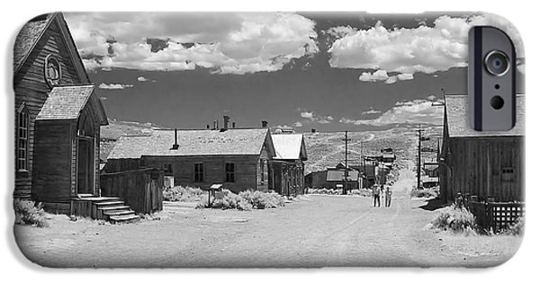 Interior Scene iPhone Cases - Bodie A Ghost Town Infrared  iPhone Case by Christine Till