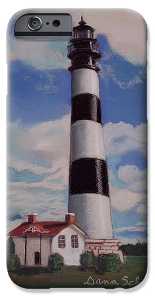 Lighthouse iPhone Cases - Bodie Island Lighthouse iPhone Case by Dana Schmidt