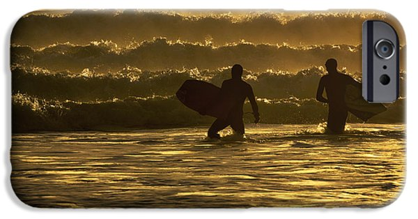 Bonding iPhone Cases - Body Surfers On The Coast Of Kodiak iPhone Case by Marion Owen