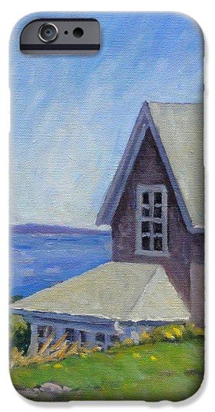 Bogdanov House Monhegan iPhone Case by Thor Wickstrom