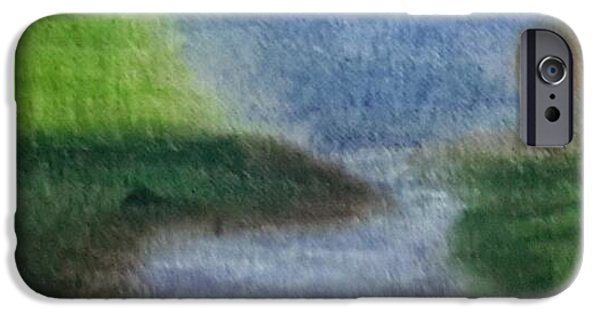 Fog Mist Pastels iPhone Cases - Boggy Creek Texas iPhone Case by Cindy  Riley