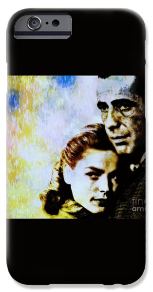 Bogie and Bacall iPhone Case by WBK