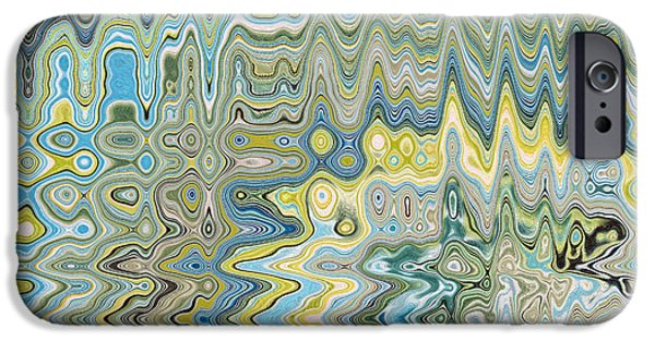 Abstract Digital Tapestries - Textiles iPhone Cases - Bohemia Aqua iPhone Case by FabricWorks Studio