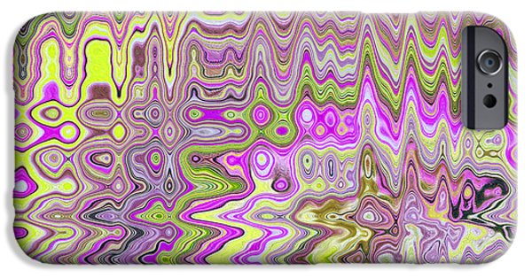Abstract Digital Tapestries - Textiles iPhone Cases - Bohemia Purple iPhone Case by FabricWorks Studio