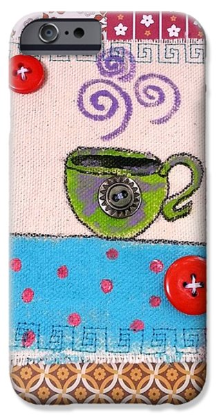 Tea Party iPhone Cases - Bohemian Coffee Swirls iPhone Case by Mellissa Meeks