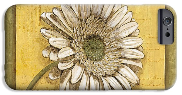 Daisy iPhone Cases - Bohemian Daisy 1 iPhone Case by Debbie DeWitt