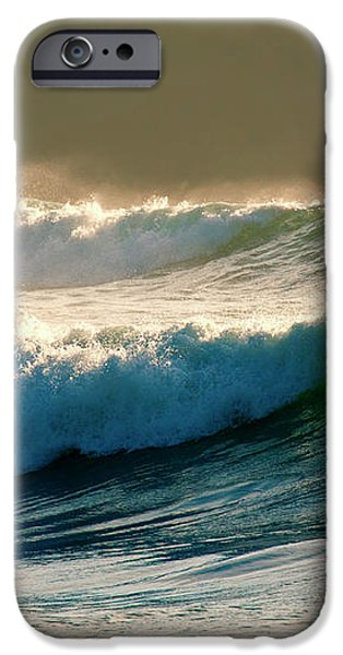 Boiler Bay Waves Rolling iPhone Case by Mike  Dawson