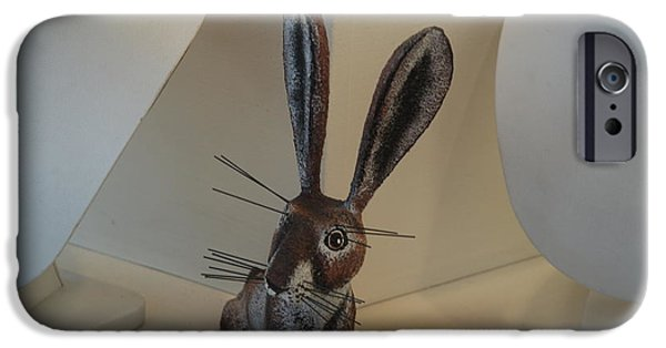 Nature Abstracts iPhone Cases - Boink Rabbit iPhone Case by Rob Hans