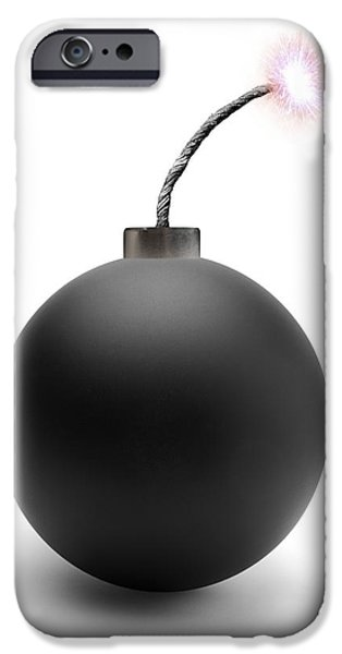 Recently Sold -  - Cut-outs iPhone Cases - Bomb, Artwork iPhone Case by Victor De Schwanberg