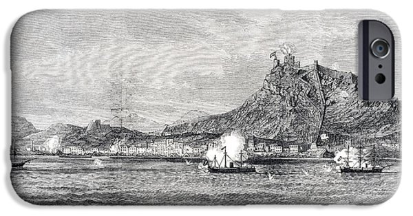 War iPhone Cases - Bombardment Of Alicante Alicante iPhone Case by Ken Welsh