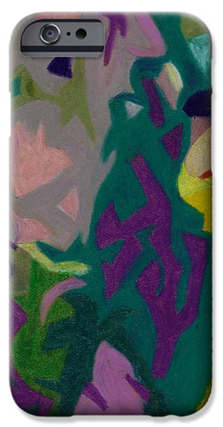 Organic Pastels iPhone Cases - Bonaventure Pondering Lady Part 1 iPhone Case by Dorneisha Batson