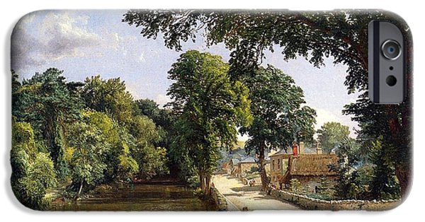 Country Lanes iPhone Cases - Bonchurch Isle of Wight iPhone Case by Jasper Francis Cropsey