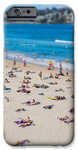 Morning iPhone Cases - Bondi People iPhone Case by Az Jackson