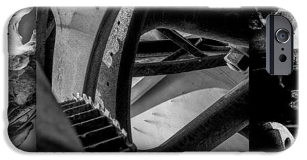 Machinery iPhone Cases - Bones and Metal study 9 iPhone Case by Samuel Hamilton