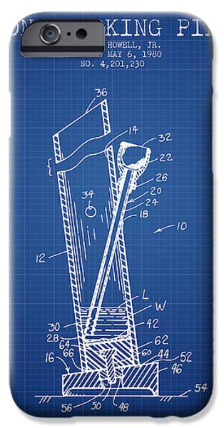 Joints iPhone Cases - Bong Smoking Pipe Patent1980 - Blueprint iPhone Case by Aged Pixel