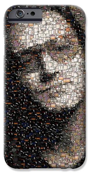 U2 iPhone Cases - Bono U2 Albums mosaic iPhone Case by Paul Van Scott