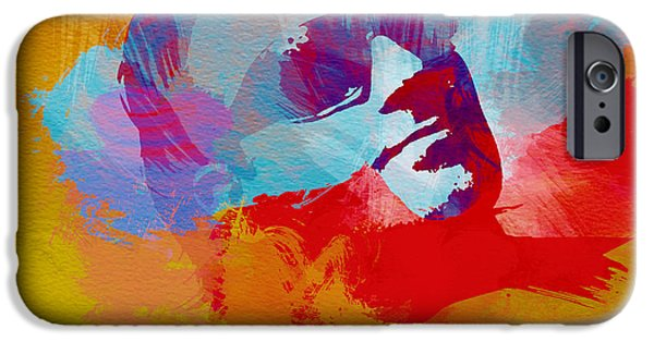 U2 Paintings iPhone Cases - Bono U2 iPhone Case by Naxart Studio
